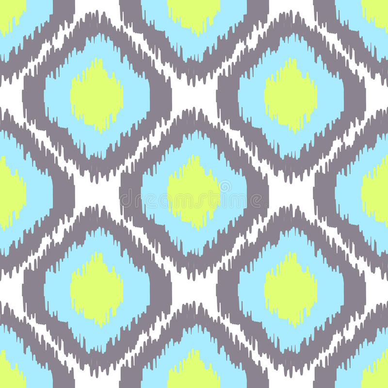Ikat vector naadloos patroon Abstracte Geometrisch vector illustratie