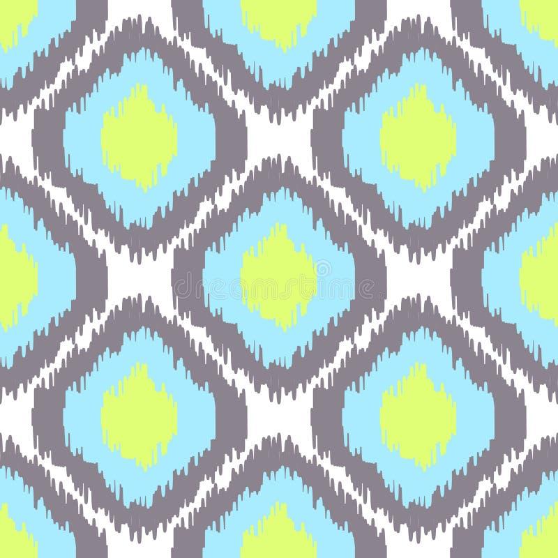 Ikat vector seamless pattern. Abstract geometric vector illustration