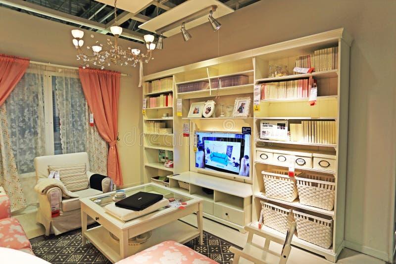 Ikea. Beijing ikea interior living room stock photos
