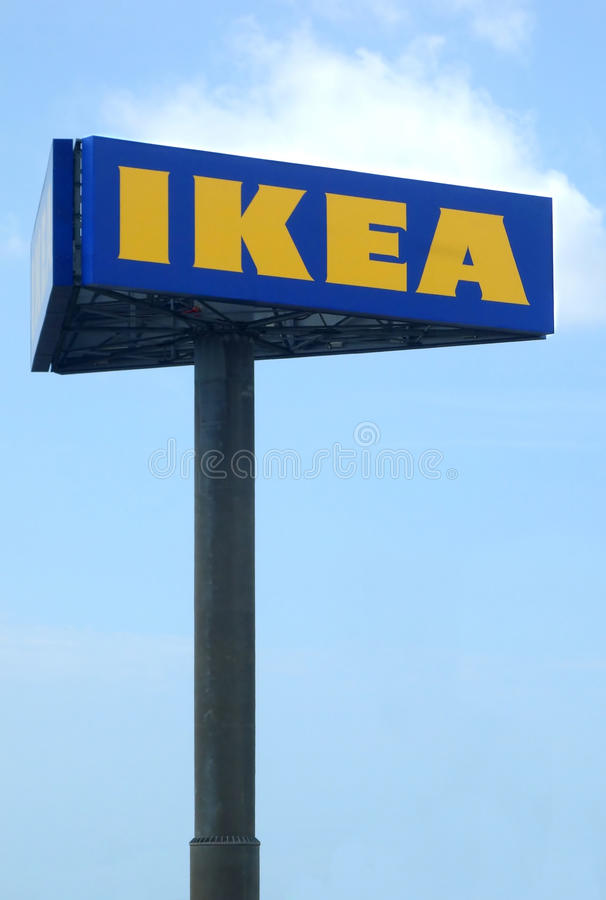 Ikea Big Billboard. Rome, Italy - August 2013: A big billboard of IKEA the world's largest furniture retailer company stock images
