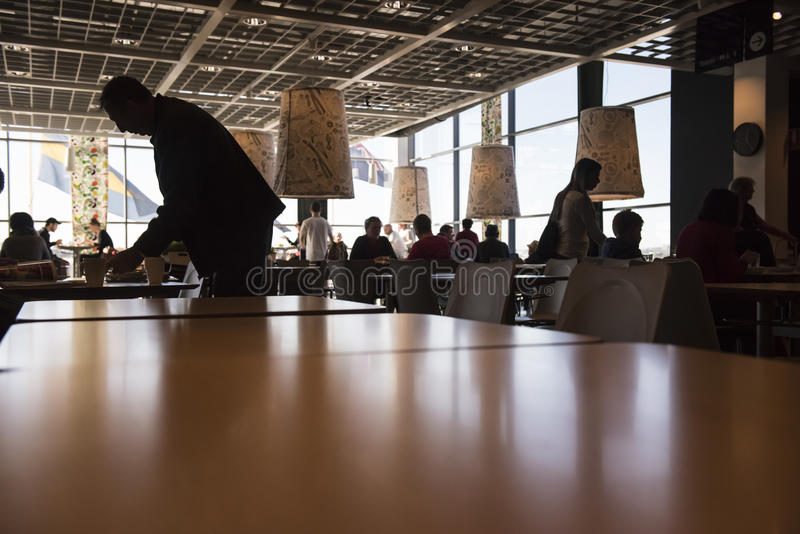 IKEA cafeteria. The busy cafeteria at the southern hemisphere's biggest IKEA store. Sydney, Australia stock photo