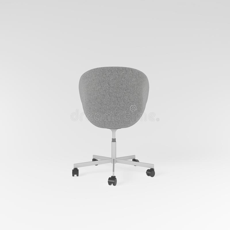Grey work chair in Scandinavian style royalty free stock images