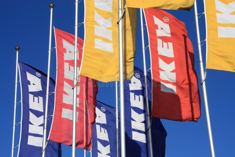 Download Ikea flags editorial photo. Image of company, ikea, life - 16466811