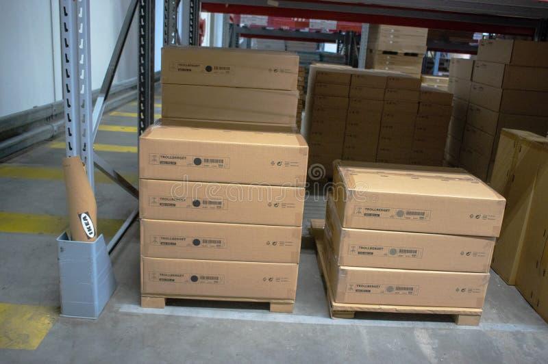 IKEA-lager i IKEA-butiken arkivbilder