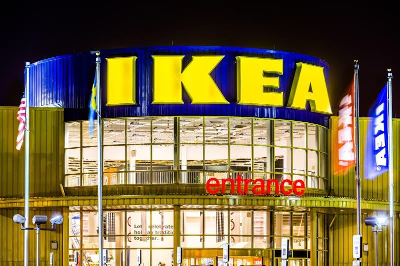 IKEA-opslagingang royalty-vrije stock fotografie