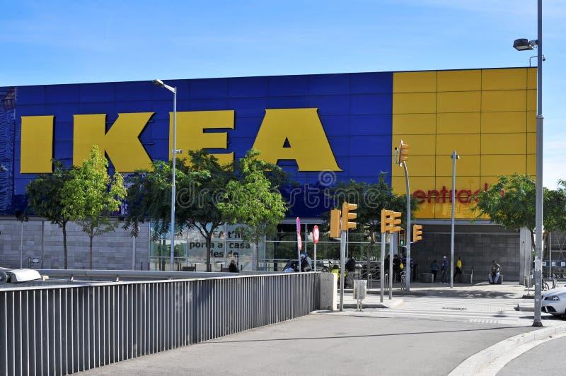 Ikea przechuje w Hospitalet De Llobregat, Hiszpania zdjęcie stock
