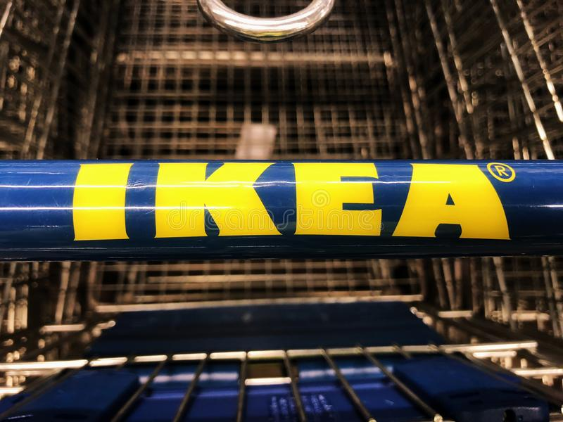 Ikea Store. IKea is retailer store of fine home furnishings, such as sofa`s, love seats and kitchen sets. The Swedish company is the world`s largest furniture stock photo