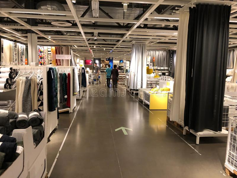 Ikea store. Ikea is retailer store of fine home furnishings, such as sofa`s, love seats and kitchen sets. The Swedish company is the world`s largest furniture royalty free stock images