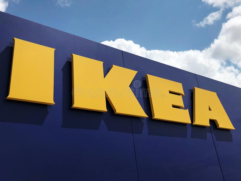 Ikea Store. Ikea is retailer store of fine home furnishings, such as sofa`s, love seats and kitchen sets. The Swedish company is the world`s largest furniture royalty free stock photos