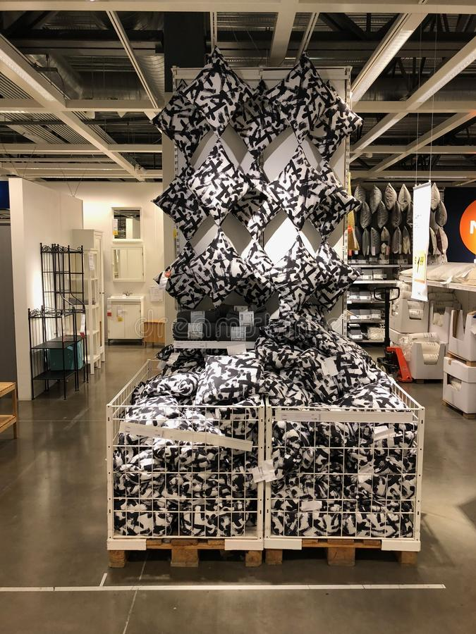 Ikea store. Ikea is retailer store of fine home furnishings, such as sofa`s, love seats and kitchen sets. The Swedish company is the world`s largest furniture stock photography