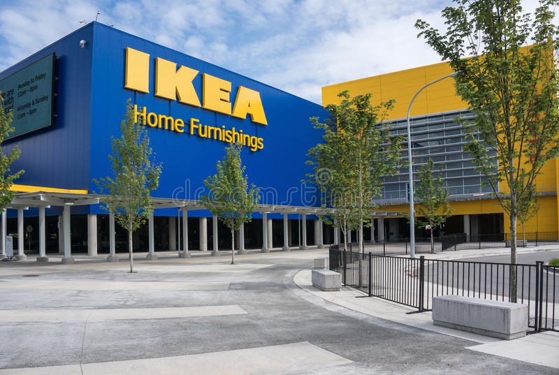 Ikea. RICHMOND, BC, CANADA - MAY 30, 2013: IKEA Richmond store on May 30, 2013. Founded in Sweden in 1943, Ikea is the worlds largest furniture retailer royalty free stock photo