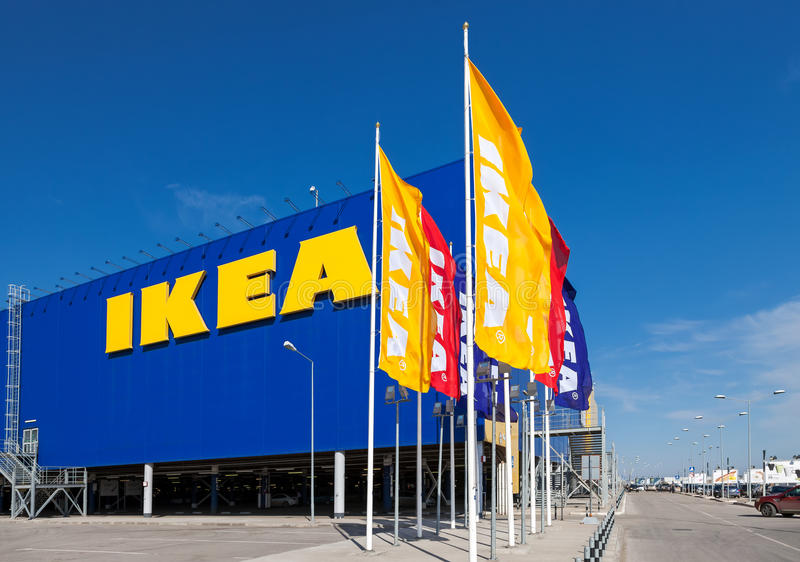 IKEA Samara Store. SAMARA, RUSSIA - APRIL 19, 2014: IKEA Samara Store. IKEA is the world's largest furniture retailer and sells ready to assemble furniture royalty free stock photography