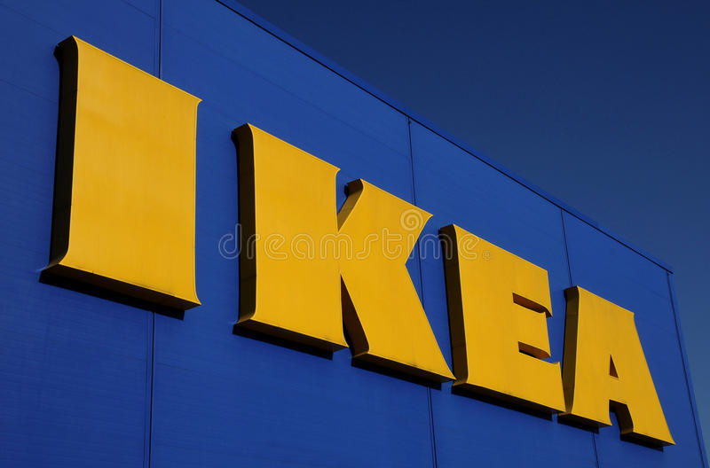Ikea Slovakia in Bratislava. Ikea furniture and home store sign royalty free stock image