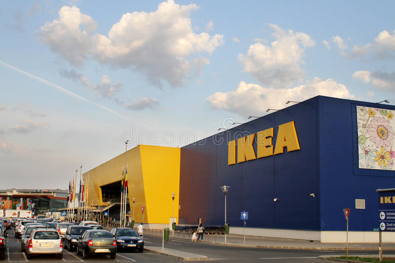 Ikea store. Ikea furniture retailer store in Bucharest, Romania stock images