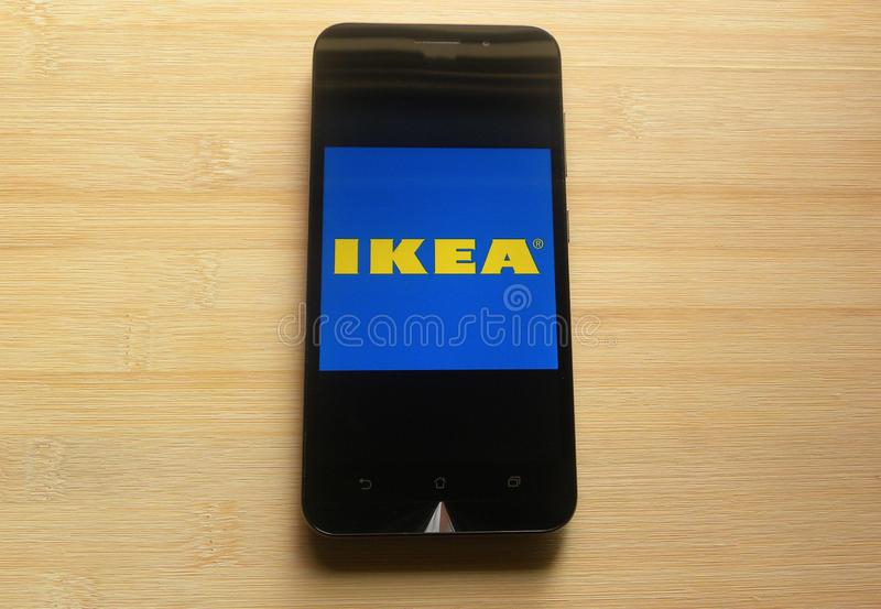 IKEA Store app on mobile phone royalty free stock images
