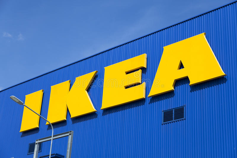 The Ikea store. BANGNA,THAILAND - MAY 22 :The Ikea logo in Thailand on May 22,2015. IKEA is the world's largest furniture retailer and sells ready to assemble royalty free stock images