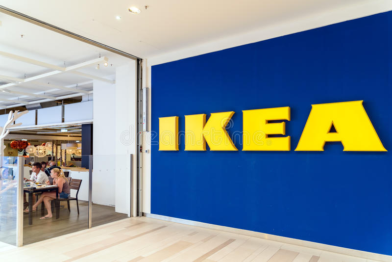 Ikea Store. VIENNA, AUSTRIA - AUGUST 10, 2015: IKEA Store is a Swedish company registered in the Netherlands that designs and sells ready-to-assemble furniture royalty free stock photography
