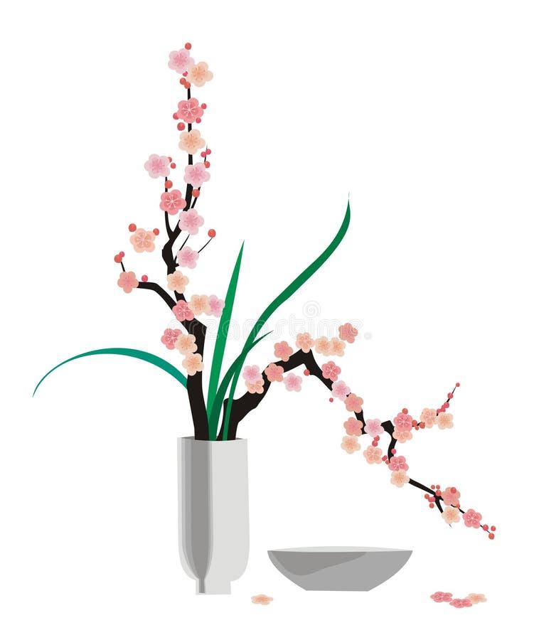 Ikebana illustrazione di stock