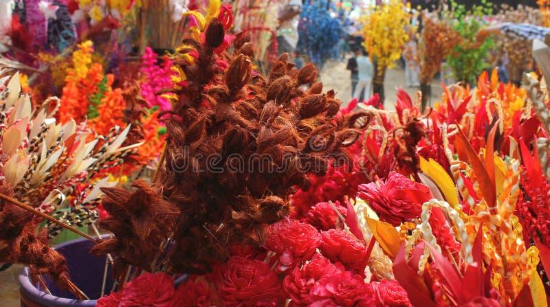 Ikebana di carta nel surajkund giusto fotografia stock libera da diritti