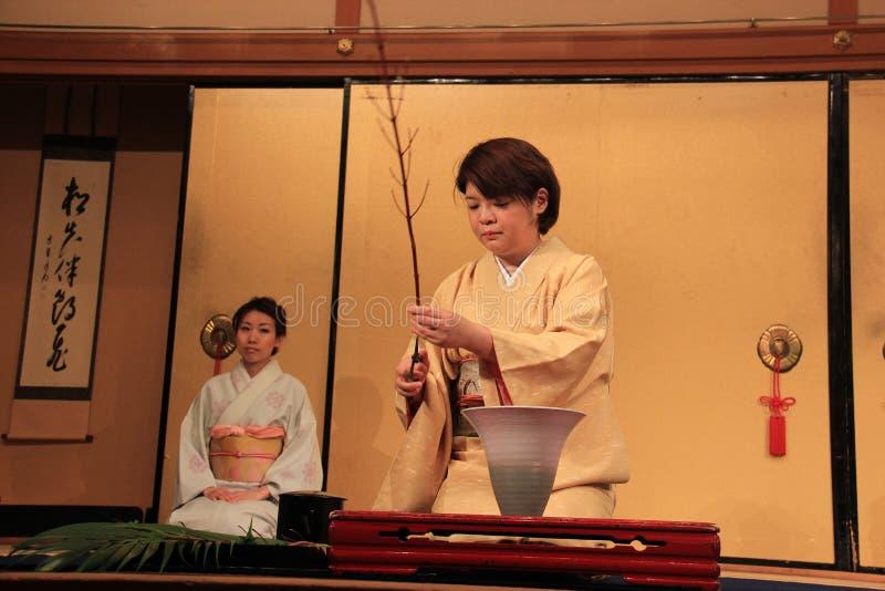 Ikebana eller japansk blommaordning royaltyfri foto