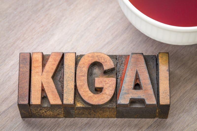 Ikigai - ein Grund für Sein stockbilder