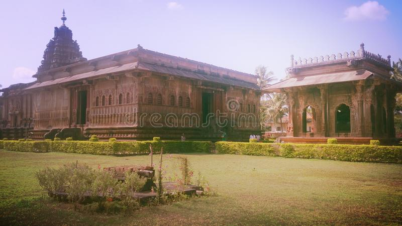 Ikkeri temple in sagara stock photography