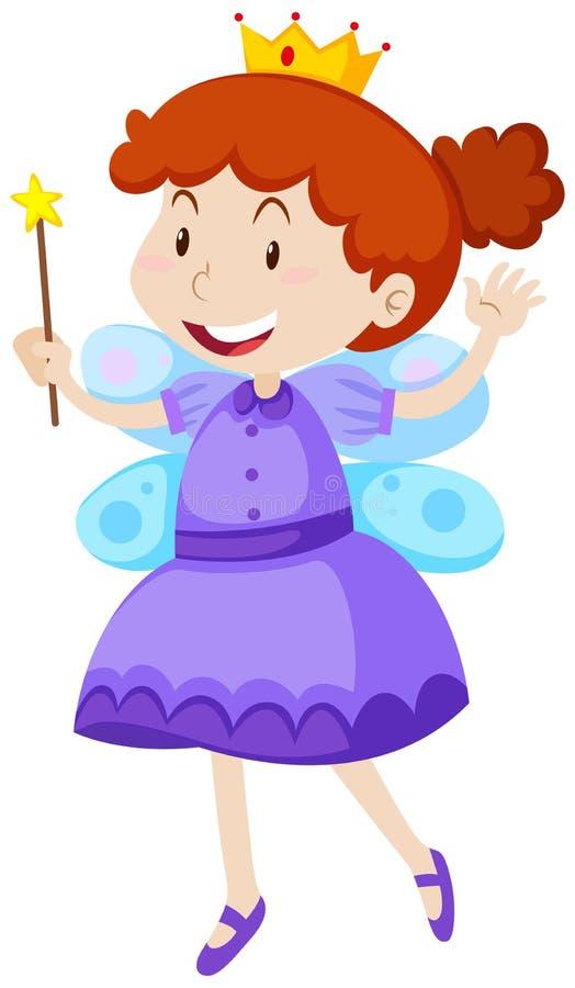Iklädd felik dräkt för liten flicka stock illustrationer