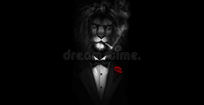 Ikng do leão do amante fotografia de stock royalty free