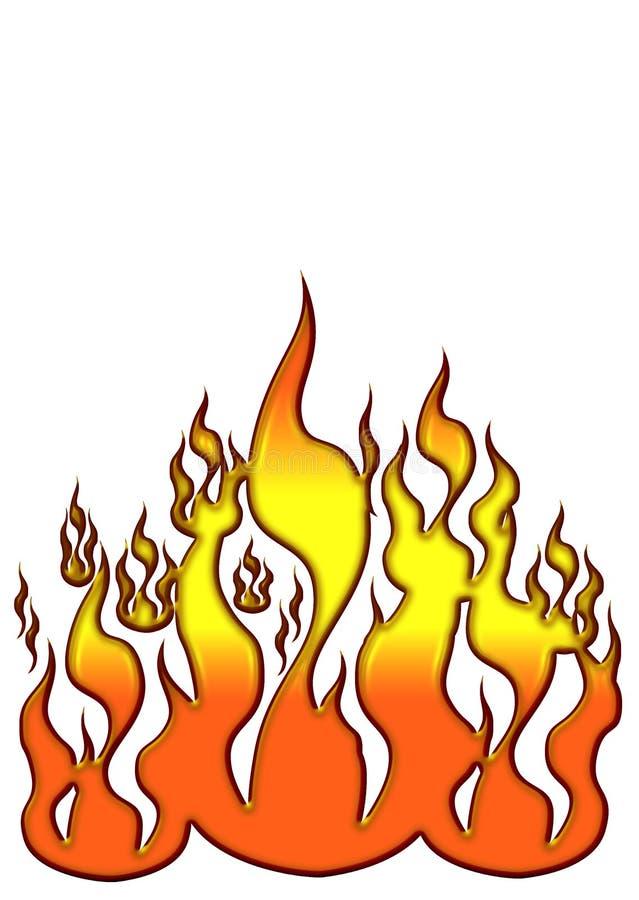 ikonę płomieni royalty ilustracja