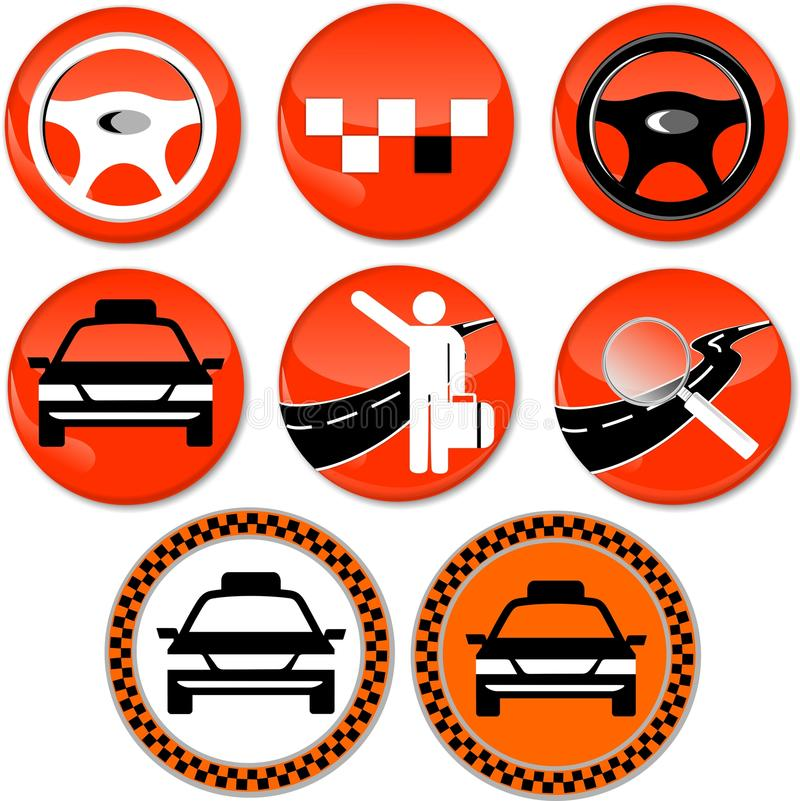 8 ikon dla taxi obraz royalty free