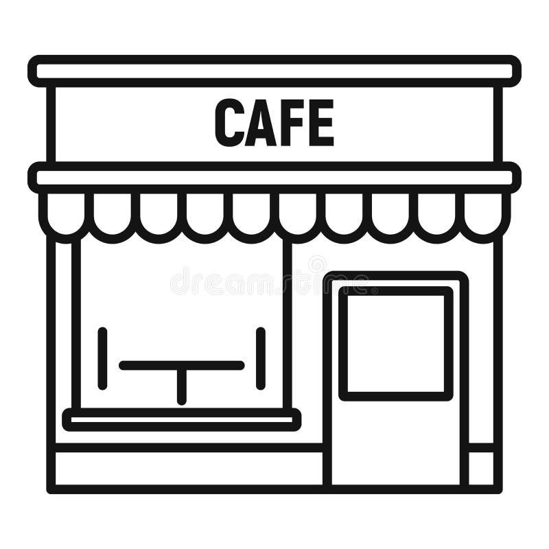 Ikon för kafégata, dispositionsformat vektor illustrationer