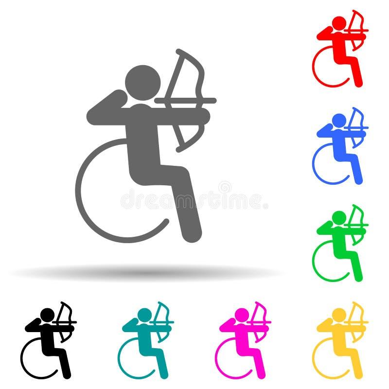 Ikon för multifärgsformat för inaktiverat idrottsarkiv Enkla tecken, platta vektorer för tävlingsikoner för ui och ux, webbplats  stock illustrationer