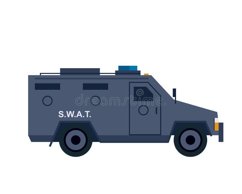Ikon för polisswat van vektor illustrationer