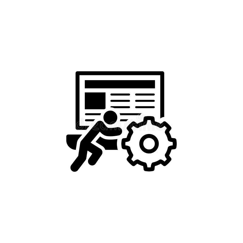 Ikon för teknisk support Platt design arkivbild