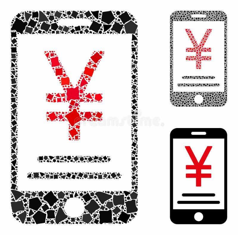 Ikon för Tremble Elements för mobila betalningar för Yen royaltyfri illustrationer