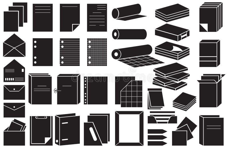 Ikon falcówki i papier ilustracja wektor