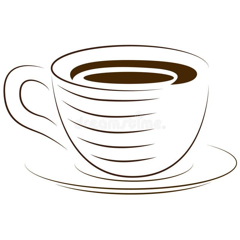 Ikon filiżanki Filiżanka gorący napój przygotowywa ikonę ilustracja wektor