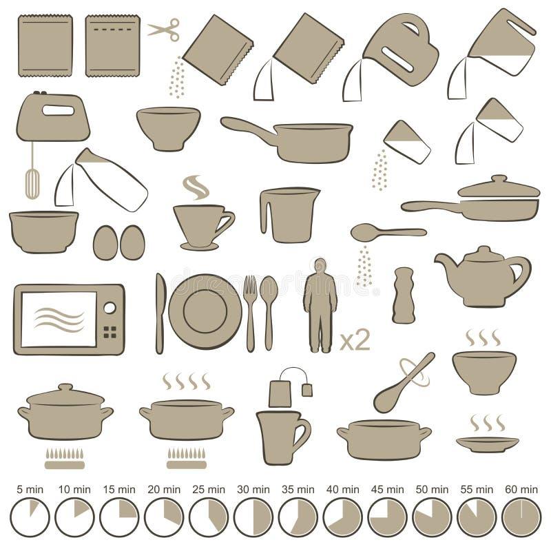 Ikon gotować ilustracja wektor