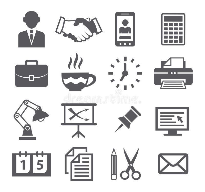 ikon ilustracyjny biurowy ustalony materiałów wektor ilustracja wektor