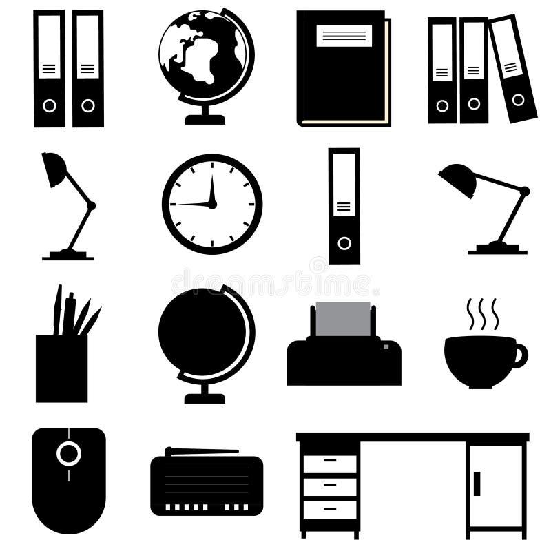 ikon ilustracyjny biurowy ustalony materiałów wektor zdjęcia royalty free