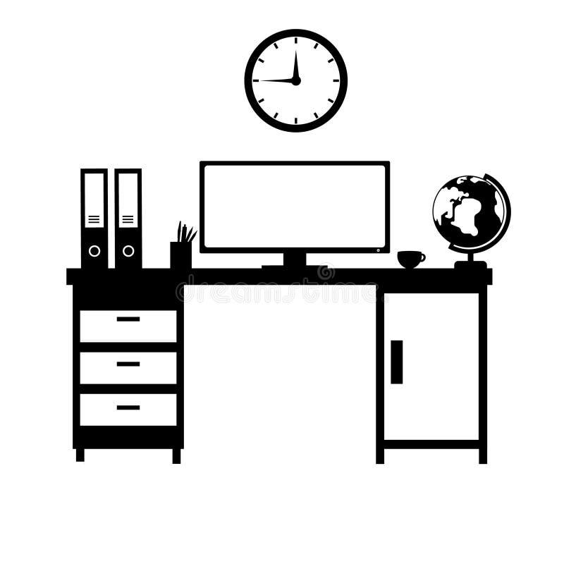 ikon ilustracyjny biurowy ustalony materiałów wektor fotografia stock