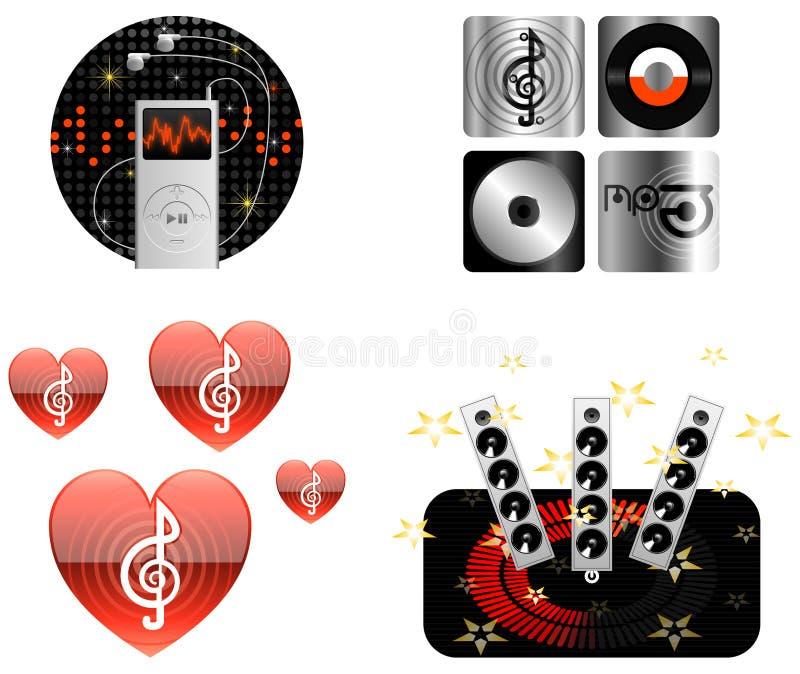 Download Ikon Ilustracyjny Muzyki Wektor Ilustracja Wektor - Obraz: 13647828