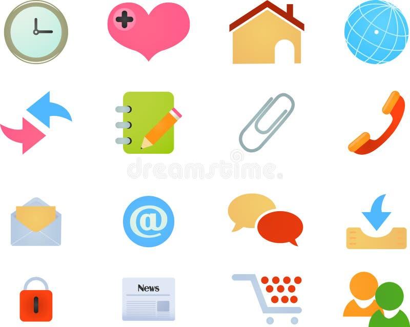 ikon internetów miejsca sieć ilustracja wektor