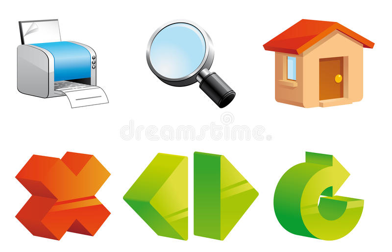 ikon internetów nawigacja ilustracji