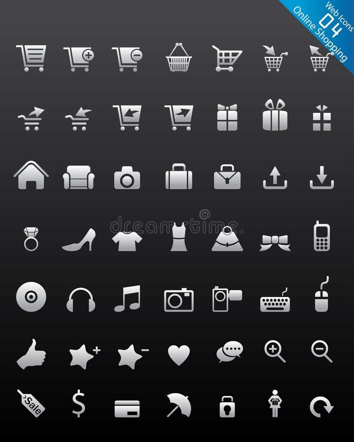 ikon internetów online zakupy strona internetowa ilustracji