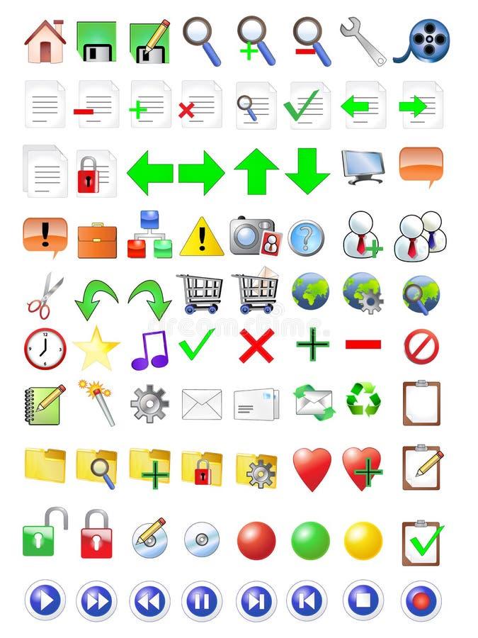 ikon internetów set royalty ilustracja