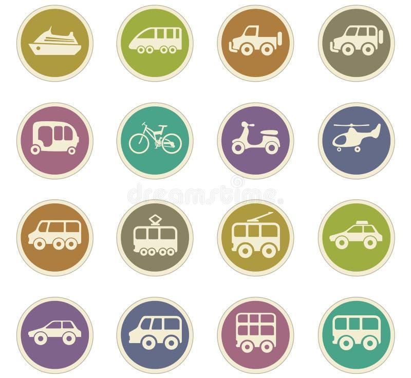 ikon jawny setu transport royalty ilustracja