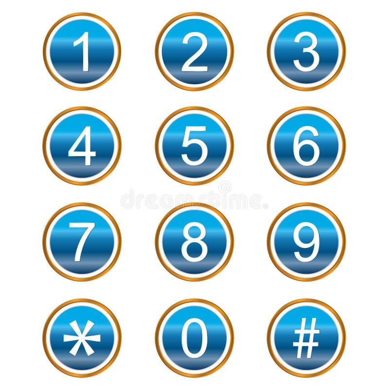 ikon liczby ilustracja wektor