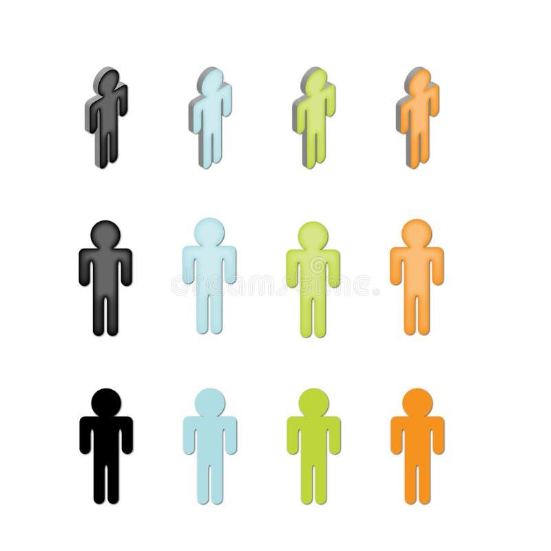 ikon ludzie royalty ilustracja