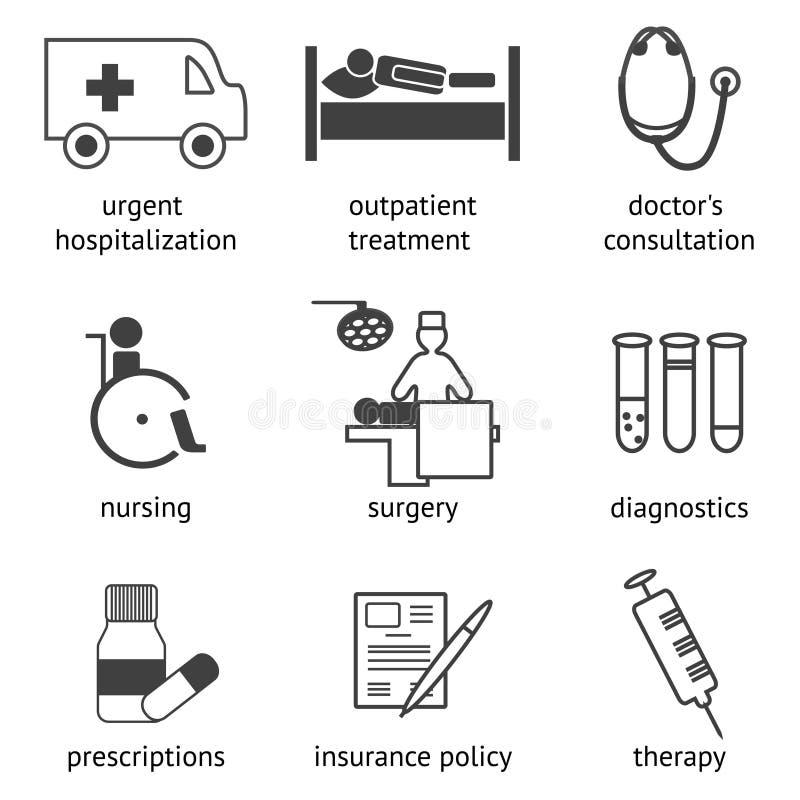 ikon medyczny setu wektor ilustracji